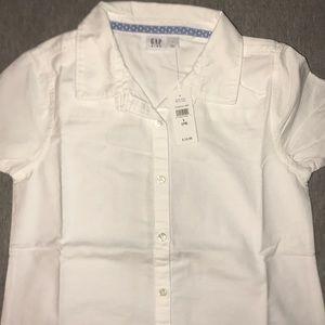 Girls shirt sleeve button down shirt